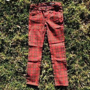 Ralph Lauren girls Sz 8 retro check skinny jeans
